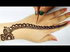आसान राखी स्पेशल मेहँदी 2019 - बहुत सरल गोल टिक्की से मेहँदी लगाना सीखे, Easy Backhand Mehndi Design - YouTube Mehndi Desing, Eid Mehndi Designs, Latest Mehndi Designs, Simple Mehndi Designs, Mehndi Designs For Hands, Mehendi Simple, Mehndi Designs For Beginners, Mehndi Design Pictures, Afghan Clothes