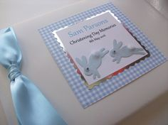 'Bunnies' Personalised Christening Guest Book UK