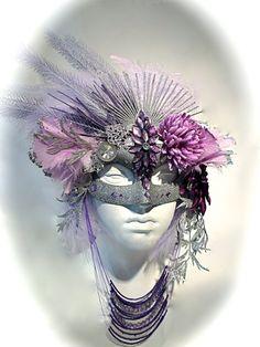 Antoinette's Masquerade Mask Art Mask Halloween by Marcellefinery, $125.00 #halloween #halloweenmask Mascarade Mask, Masquerade Ball, Halloween Masks, Halloween Face Makeup, Venitian Mask, Masks Art, Headdress, Enclave, Masquerades