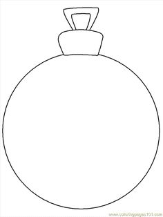 Christmas baubles templates and shape on pinterest for Christmas baubles templates to colour