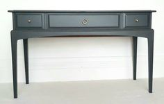 Stag Minstrel Painted Mahogany Sideboard, Dresser, Finished In Fusion Mineral Paint, Charcoal Grey. Retro Furniture, Upcycled Furniture, Furniture Design, Mahogany Sideboard, Antique Sideboard, Rattan Rocking Chair, Painted Wardrobe, Bedroom Chest, Mineral Paint