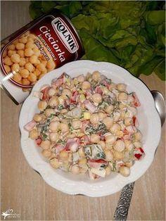 Kolorowa sałatka z cieciorką (2) Slow Food, Superfood, Pasta Salad, Potato Salad, Salads, Dessert Recipes, Food And Drink, Appetizers, Tasty