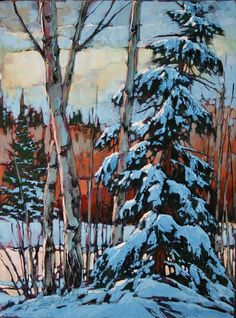 Paintings - David Langevin Artworks Inc. Painting Snow, Winter Painting, Winter Art, Winter Theme, Winter Landscape, Landscape Art, Landscape Paintings, Oil Paintings, Art Abstrait