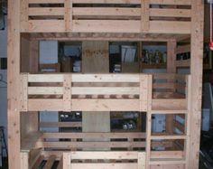 Sólido pino madera personalizado hecho escaleras para cualquier litera o cama del desván. Un montón de espacio de almacenamiento para libros o