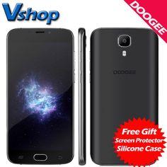 원래 doogee x9 프로 4 그램 lte 휴대 전화 6.0 안드로이드 2 기가바이트 ram 16 기가바이트 ROM MTK6737 쿼드 코어 720 마력 듀얼 SIM 5.5 인치 휴대 전화