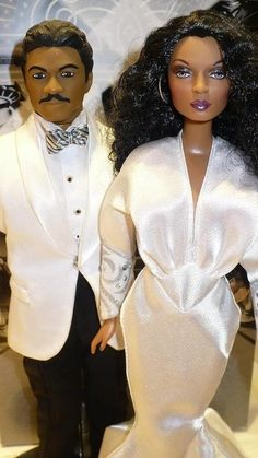 "Who else didnt know there were ""Mahogany"" dolls??? It's Diana & Billy Dee!"