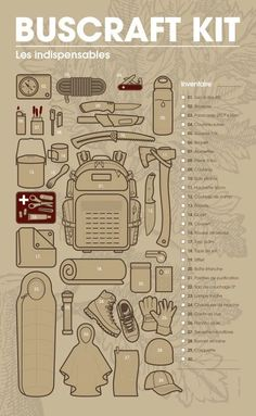 Bushcraft Kit Bushcraft Kit More from my site survival kits… Just incase a breaks out without yo… survival kits. Just incase a … Camping Survival Kits Survival Life Hacks, Survival Weapons, Survival Food, Camping Survival, Outdoor Survival, Survival Prepping, Survival Skills, Camping Gear, Camping Hacks
