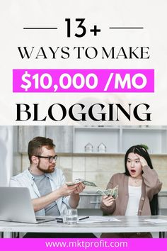 Do you need to start making money blogging? AdSense is not the only way. In this post, I will show you 13 other ways to make money blogging, other than AdSense. Make Easy Money, Make Money Blogging, Make Money Online, Business Opportunities, Business Tips, Online Business, Marketing Strategies, Media Marketing, Information Technology Services