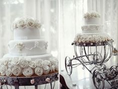 This carriage cake stand is kind of amazing.  Oh how I love whimsical things.