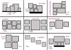 Some ideas on how to arrange picture frames for-the-home