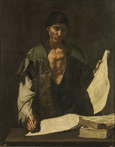 José de Ribera (Spanish, 1591-1652), Archimedes,ca. 1630. Oil on canvas, 118 x 94 cm. Museo del Prado, Madrid.
