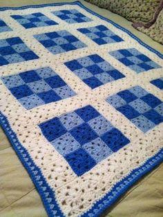 Granny Square Blanket- Love th