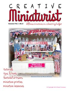 Creative Miniaturist vol 1 no 3  Summer 2014 Issue