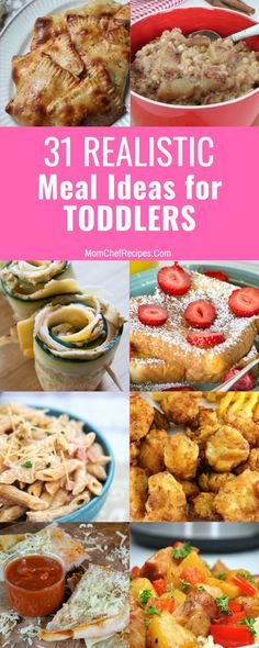 Coming up with meal ideas for toddlers can be hard! They want to feed themselves and can be super picky, so I started making a list of my favorite meals. Chef Recipes, Lunch Recipes, Breakfast Recipes, Dump Recipes, Toddler Meals, Kids Meals, Toddler Food, Easy Appetizer Recipes, Healthy Dinner Recipes