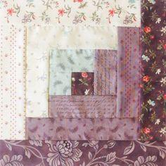 Moda Fabrics Pre-Cut 12 Block Log Cabin Quilt Kit - Quill