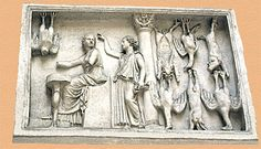 This is a bronze model of a Roman Pig Shop. McManus, Barbara. Tabernae. Feb. 2007. vroma.org. N.p. Web. 27 Sept. 2011.