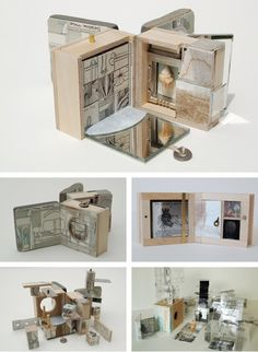 Small Museum of Nature and Industry, Susan Collard. Collard tried to make a book with the open-ended complexity of a miniature museum. The link is awesome - Brigit