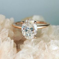 Trabert Goldsmiths Oval Engagement Ring