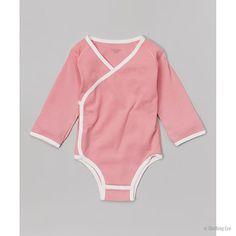 Kimono Snap Bodysuit - pink