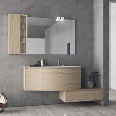mobile #arredobagno #unico #curvo #wood - @mobiltesino #shoponline ... - Eban Arredo Bagno Prezzi