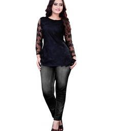 Buy Black Color Georgette Casual Wear Printed Kurti kurtas-and-kurti online