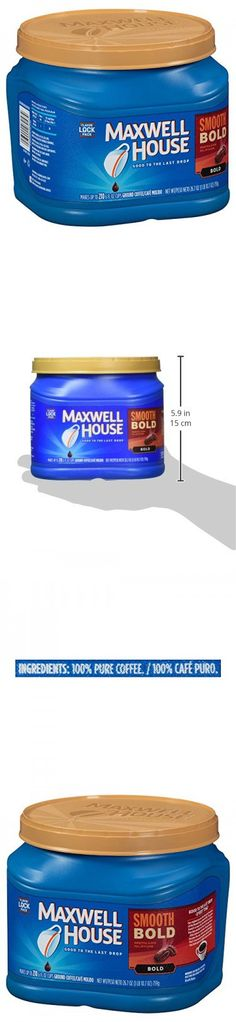 Maxwell House Smooth Bold Blend Ground Coffee, Bold Roast, 26.7 Ounce Canister Bold Bold, Ground Coffee, Canisters, Roast, Smooth, Roasts, Container