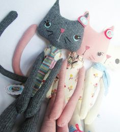 The World of Calliope: cute kittens and creative fabric