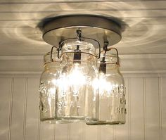 Vintage Canning Jar CEILING LIGHT Created NEW by LampGoods on Etsy
