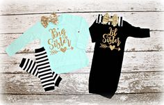 Big Sister Lil Sister set shirt and by AdornedBabyBoutique on Etsy