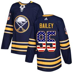 a86879d32 Adidas Sabres  95 Justin Bailey Navy Blue Home Authentic USA Flag Stitched  NHL Jersey Buffalo
