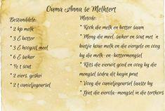 Ouma Anna se Melktert Fun Baking Recipes, Milk Recipes, Tart Recipes, Sweet Recipes, Dessert Recipes, Cooking Recipes, Oven Recipes, South African Desserts, South African Recipes