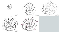 How do you draw a rose drawing a rose realistic images draw easy rose flower . Realistic Rose, Realistic Drawings, Easy Drawings, Pencil Drawings, Drawing For Beginners, Drawing Tutorials, Art Tutorials, Roses Drawing Tutorial, Rose Drawing Simple