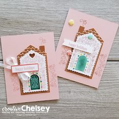 Creative Chelsey: Stampin Up Paper Pumpkin Kit Alternative Handmade Card Idea - November 2020 Jolly Gingerbread Dots Candy, Stampin Up Paper Pumpkin, Hand Stamped Cards, Chalk Markers, Card Sketches, Card Kit, Birthday Cards, Christmas Cards, Card Making
