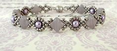 Linda's Crafty Inspirations: Bracelet of the Day: Cindy Bracelet - Lavender Swirl