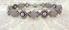 Linda's Crafty Inspirations: Bracelet of the Day: Cindy Bracelet - Lavender Swirl