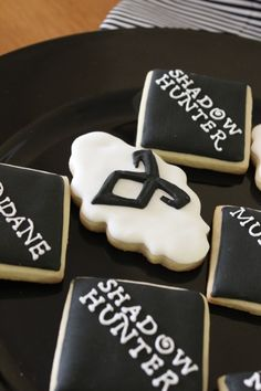 The Mortal Instruments: City of Bones Inspired Movie Release Party. Cookies by Firefly Confections.