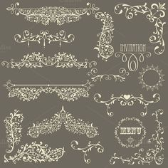 Check out Vector Lacy Vintage Design Elements by alexmakarova on Creative Market