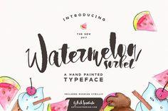 Watermelon Sorbet Brush Script by Spasibenko Art on @creativemarket