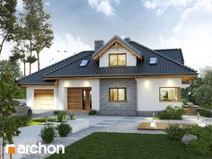 Modern family home scores with classic elegance - Baustil Modern Family, Home And Family, Future House, Bungalow Extensions, Design Your Own Home, Modern House Plans, Prefab Homes, Classic Elegance, House Goals