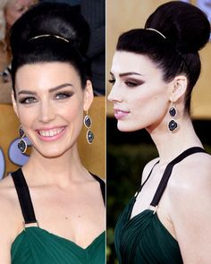Jessica Paré's Regal Bun - Spring 2013 Hairstyles: Easy updos inspired by Naomi Watts, Emily Blunt, Amy Adams and more - Spring Hair Trends ...