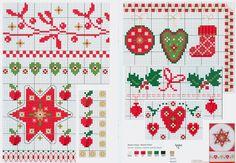 Christmas motifs free cross stitch pattern from www.coatscrafts.pl