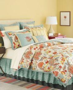 Martha Stewart Elizabetha 6 PC Full Size Comforter Set Yellow / Blue, http://www.amazon.com/dp/B0084VA9D0/ref=cm_sw_r_pi_awdm_srCmvb0R4YX6Z