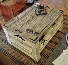 Pallet soffbord / coffee table #CoffeeTable, #DIY, #Pallet by diane.smith