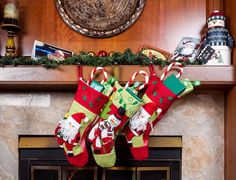 This Classic Christmas Stockings is our elegant style sure to please everyone Christmas Morning. The time honored tradition of opening gifts from Christmas stockings for kids lives on with these adorable and cheerful Christmas character applique Christmas Stockings.