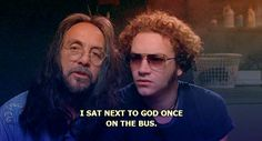 I sat next to God ~ That Show, Quotes Hyde That 70s Show, Thats 70 Show, Leo Quotes, Film Quotes, Steven Hyde, Movies Showing, Movies And Tv Shows, Wisconsin, That 70s Show Quotes