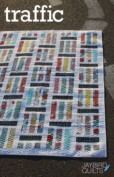 Traffic | Jaybird Quilts. Currently making this in grays and teal.