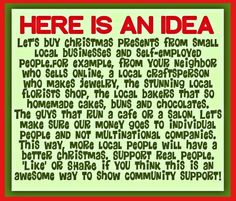 Support Small Business Saturday on November Support your local small businesses! Buy Local, Shop Local, Holiday Gift Guide, Holiday Gifts, Christmas Presents, Christmas Trimmings, Winter Holiday, Small Business Saturday, Local Florist