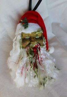 Zombie Santa Ornament by SincerelyTwisted on Etsy