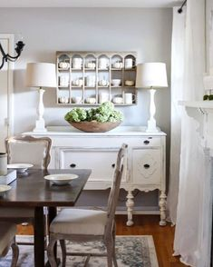 19 Awesome Antique Buffet In Living Room Design Ideas, The bathroom is one parti… – Top Trend – Decor – Life Style Decoration Inspiration, Dining Room Inspiration, Decor Ideas, Decorating Ideas, 31 Ideas, Foyer Ideas, Furniture Inspiration, Dining Room Buffet Table, Buffet Lamps
