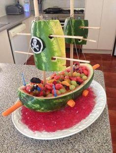 Watermelon pirate cake by ingrid